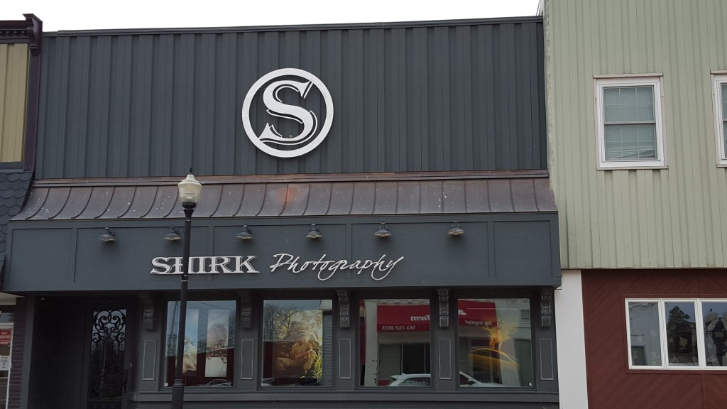 Shirk Photography Custom Storefront Sign