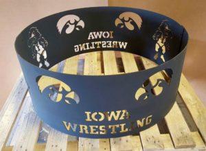 Iowa Hawkeye wrestling fire ring