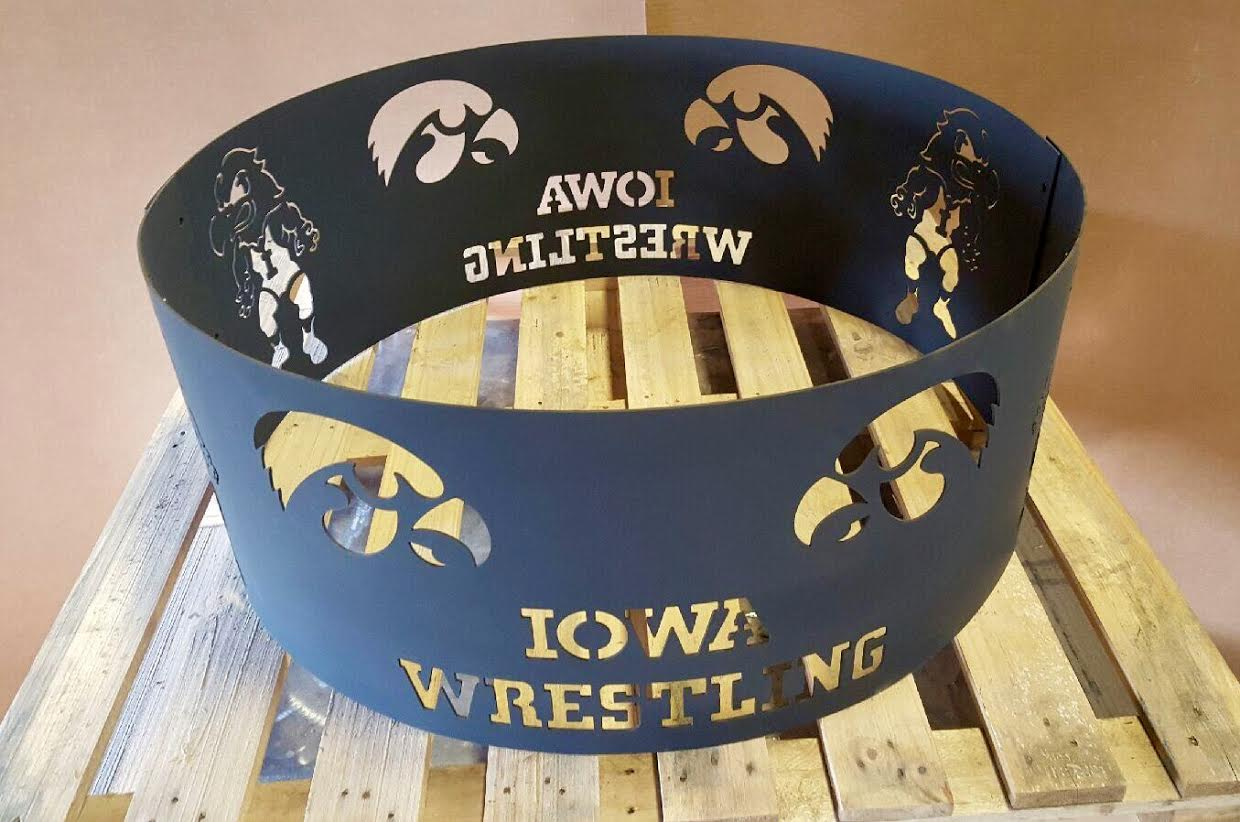 Iowa Hawkeye wrestling fire ring