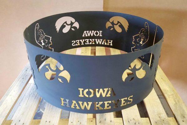 Iowa Hawkeye fire ring