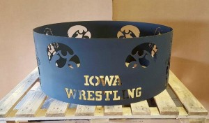 Iowa Wrestling fire pit ring