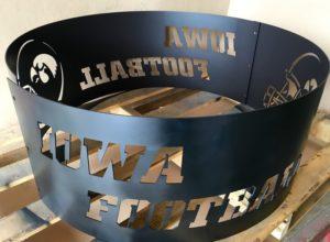 Iowa Hawkeye football fire pit ring