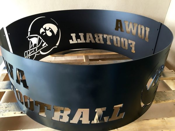 Iowa Hawkeye football fire ring