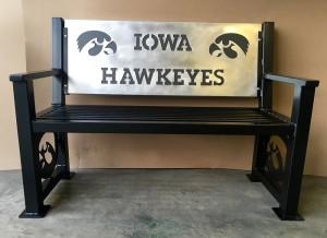 Iowa Hawkeye heavy duty bench