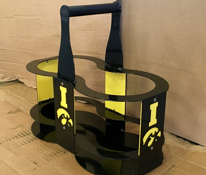 Hawkeye growler carrier