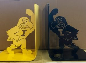 Herky the Hawk Bookends